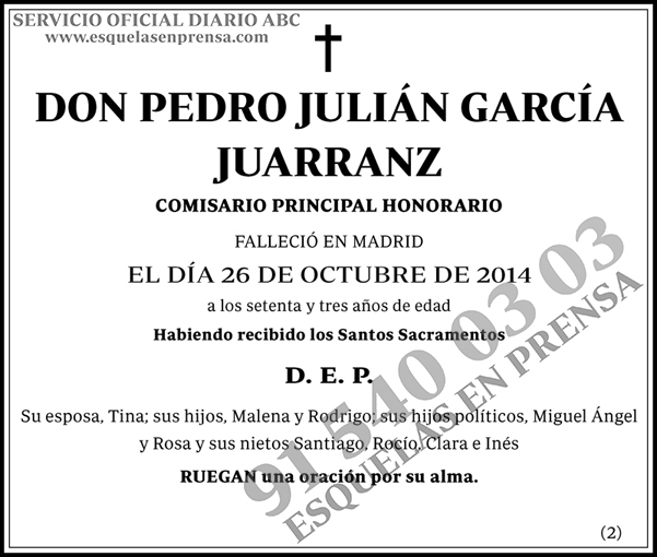 Pedro Julián García Juarranz